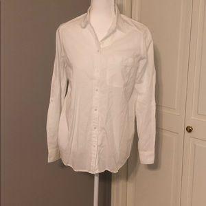 Boyfriend white button down shirt